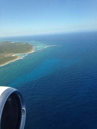 Flying into Punta Cana, DR Scones in the Sky