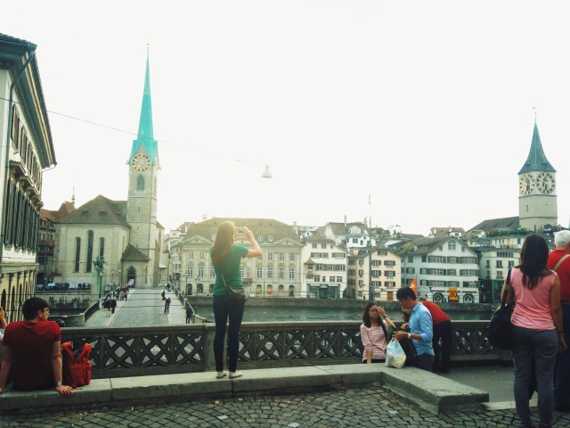 View from Grossmünster Cathedral, Zurich.