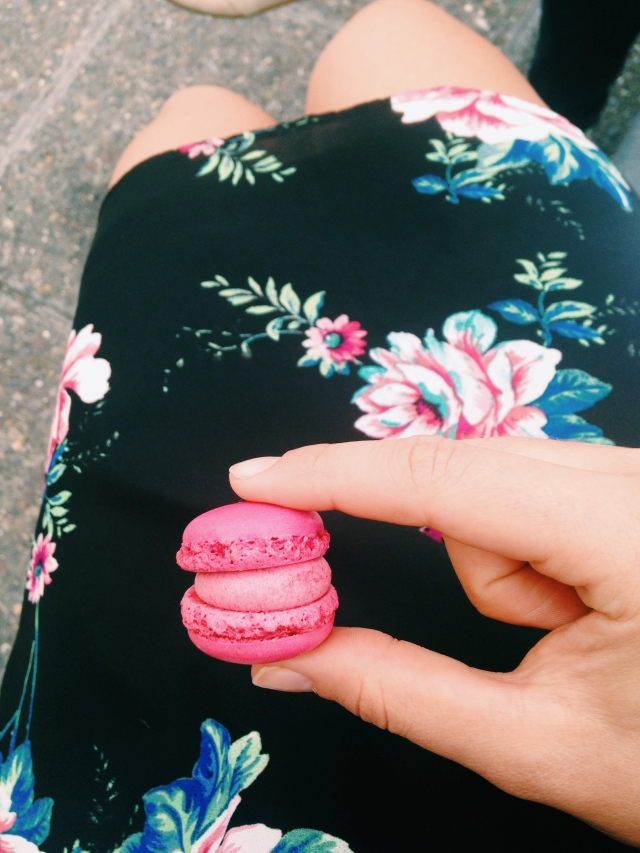 Scones in the Sky | Sprügnli Raspberry Macaron