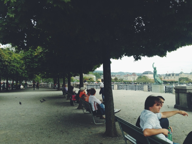 Park above Boating Dock, Zurich | Scones in the Sky