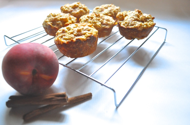 Peaches N' Oats Muffins | Scones in the Sky