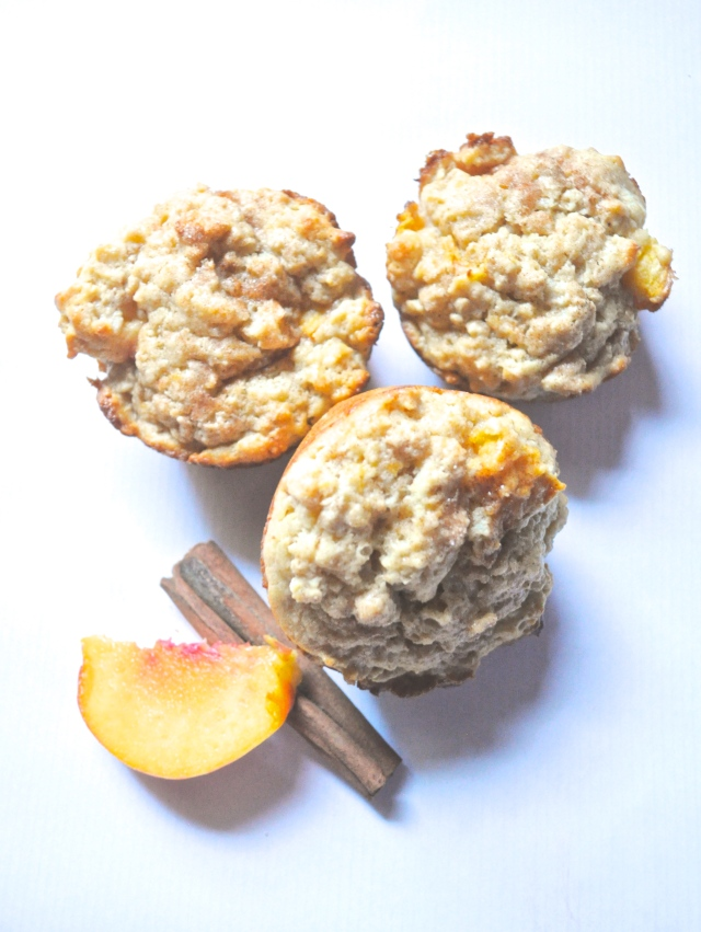 Peaches N' Oats Muffins | Scones in the Sky Blog