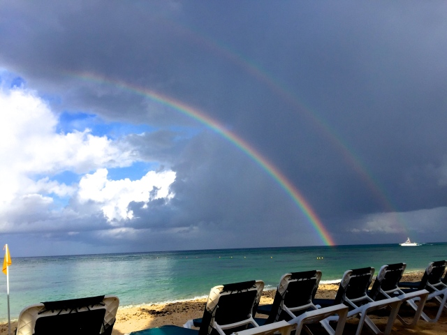 Rainbows over Cozumel | Scones in the Sky Blog