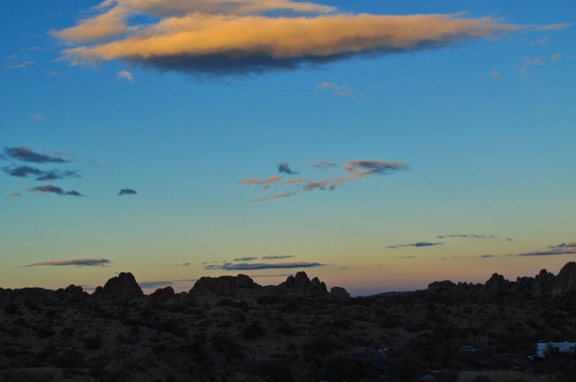 Sunset over Joshua Tree | Scones in the Sky Blog